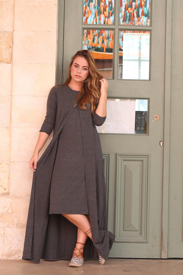 Solid Cape Dress (more colors available)