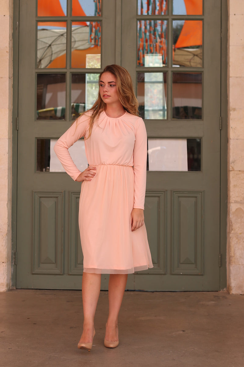 Belted Tulle Dress / Pink