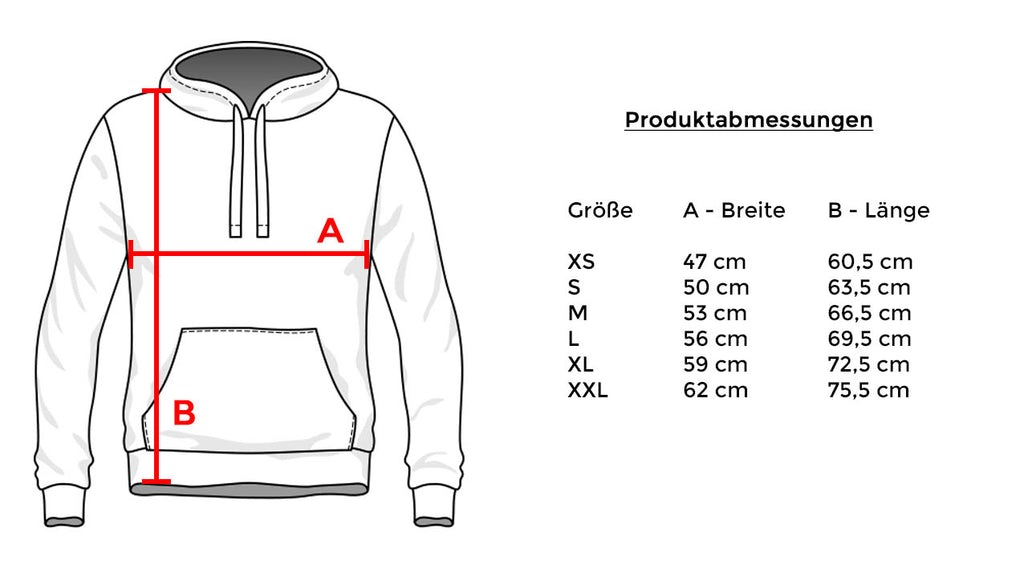 Addikted Apparel K17-3 Hoodys Size Chart