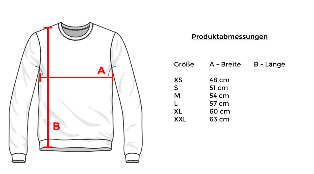 Addikted Apparel K17-3 Sweater Size Chart