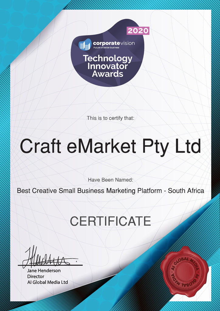 Award Winner: Best Creative Small Business Marketing Platform - South Africa