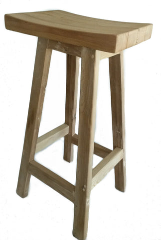 Barstool made from solid, re-purposed reclaimed wood with a raw, rustic finish. Handmade in Cape Town by Rustic Wood.