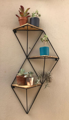 3 Tier Vertical Geometric Shelf. Available at Craft eMarket.