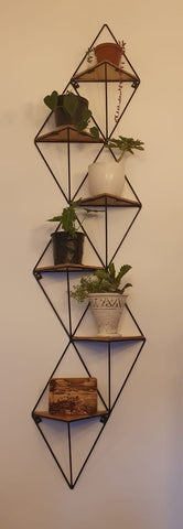 6 Tier Vertical Geometric Shelf. Available at Craft eMarket.