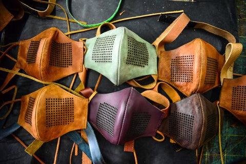 Rustic Leather Face Masks - CraftEMarket Pty Ltd