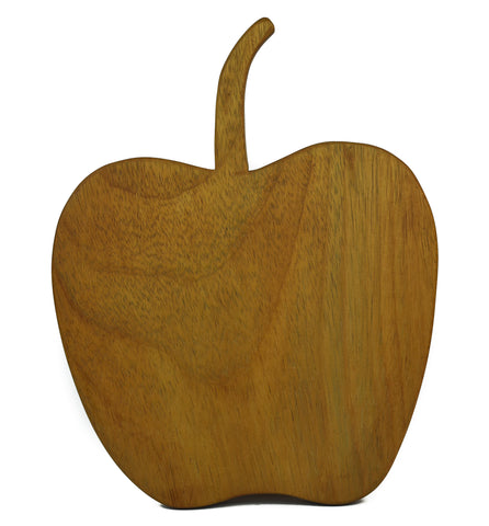 Apple-Shaped Solid Wood Cheese Board - Craft eMarket