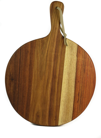 Kiaat Wood Pizza Paddle - Round - CraftEMarket Pty Ltd