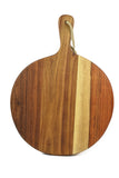 Kiaat Wood Pizza Paddle - Round - Craft eMarket