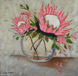 Oil Painting - King Protea - CraftEMarket Pty Ltd
