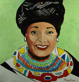 Mother of Nation - Oil Painting by local artist - Craft eMarket
