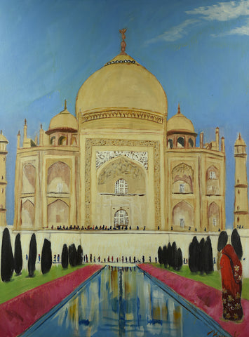 Taj Mahal - Oil Painting by local artist - Craft eMarket