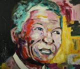 Madiba - Oil Painting by local artist - CraftEMarket Pty Ltd