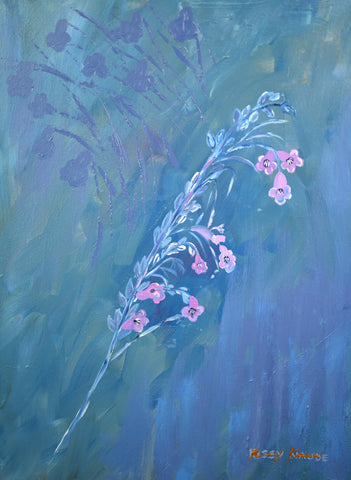 Blue Bell Flowers - Oil Painting by local artist - Craft eMarket