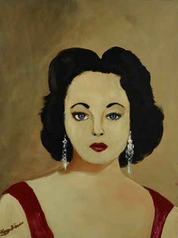 Liz Taylor - Oil Painting by local artist - CraftEMarket Pty Ltd