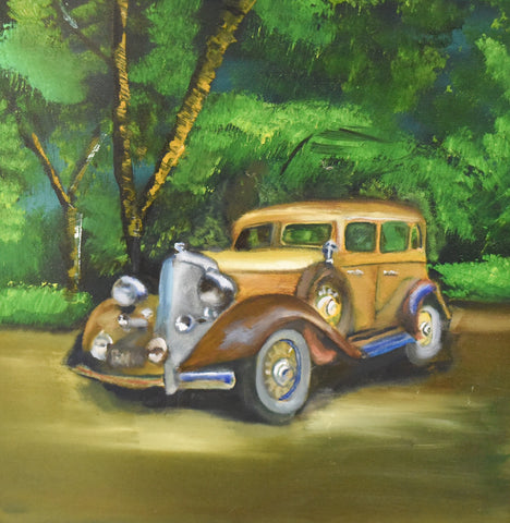 Vintage Car - Oil Painting by local artist - Craft eMarket