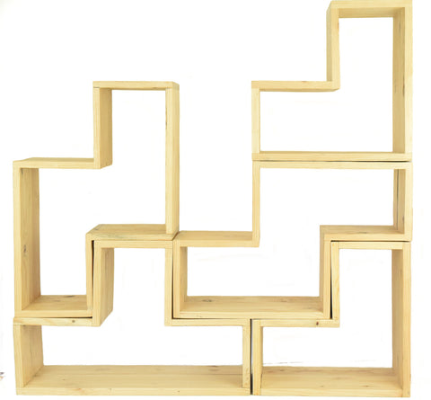 5 Piece Stack-Up Tetris Shelf - CraftEMarket Pty Ltd