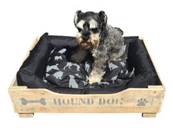 Solid Wooden Dog Bed with Soft Comfy Cushion - Craft eMarket