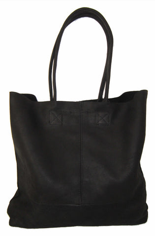Leather Happy Shopper. Available in Black, Brown, Toffee or Grey - CraftEMarket Pty Ltd