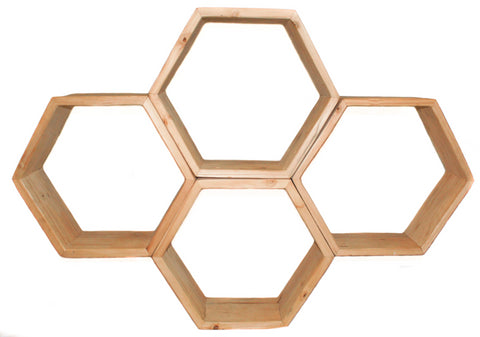 Hexagon Flower Shelf - CraftEMarket Pty Ltd