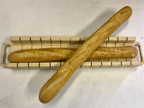 Baguette Slicer Serving Board - Handmade from Recycled Wood - CraftEMarket Pty Ltd