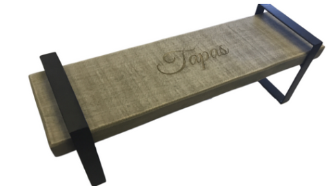 Tapas Serving Stand with Wooden Top and Iron Base - Craft eMarket
