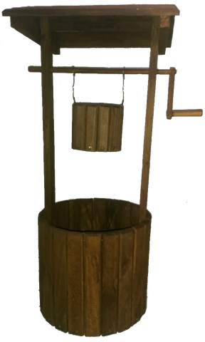 Solid Wooden Wishing Well Planter - CraftEMarket Pty Ltd