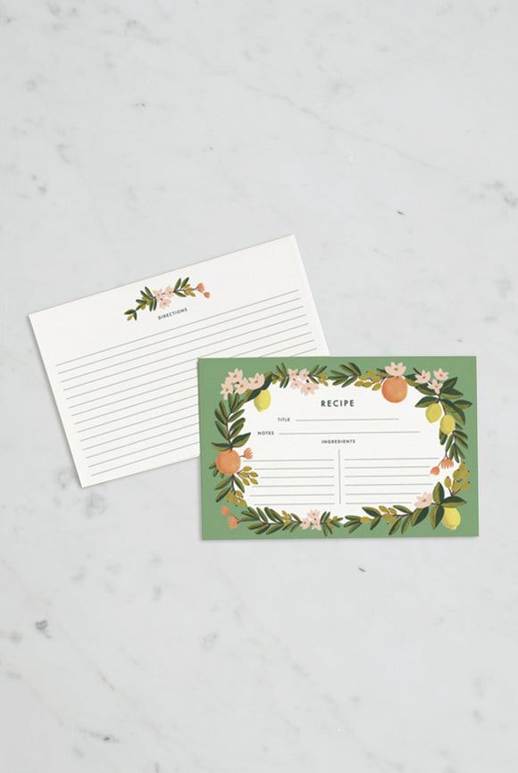 'Citrus' Recipe Cards