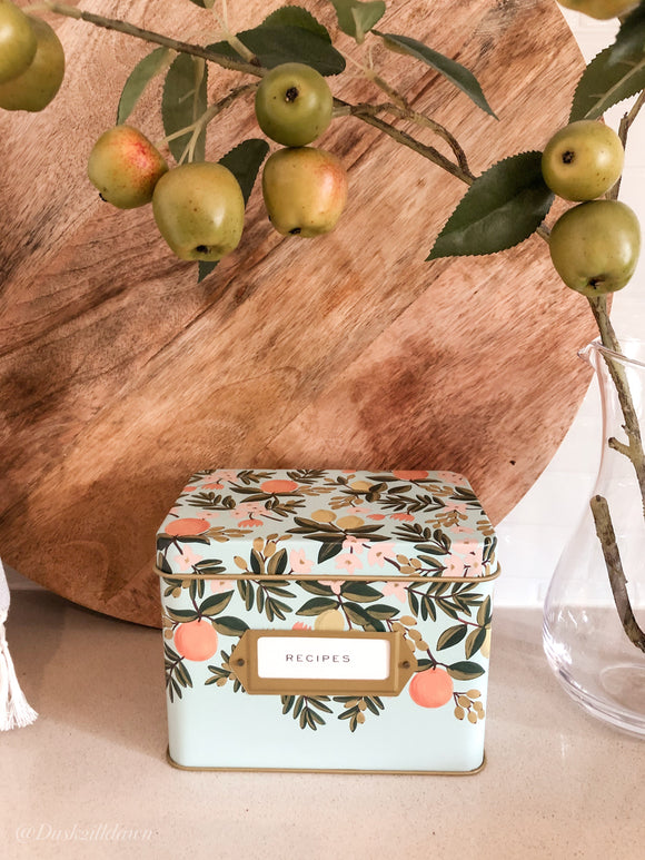 'Citrus' Tin Recipe box