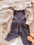 'Bertha' Blue Romper/Jumpsuit