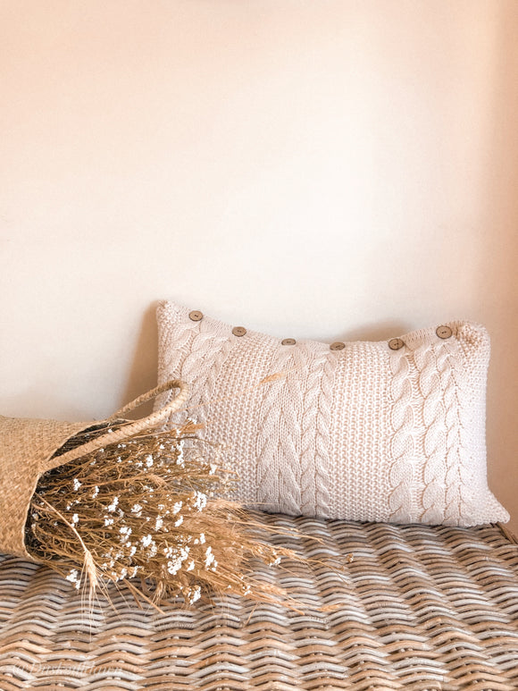'Daintree' Chunky Knitted Pillowcase