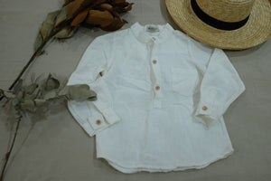 Boys White Buttoned Shirt