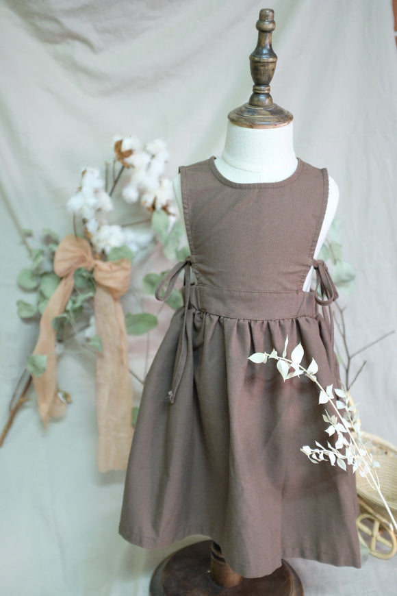 'Nutmeg' Linen Pinafore Dress