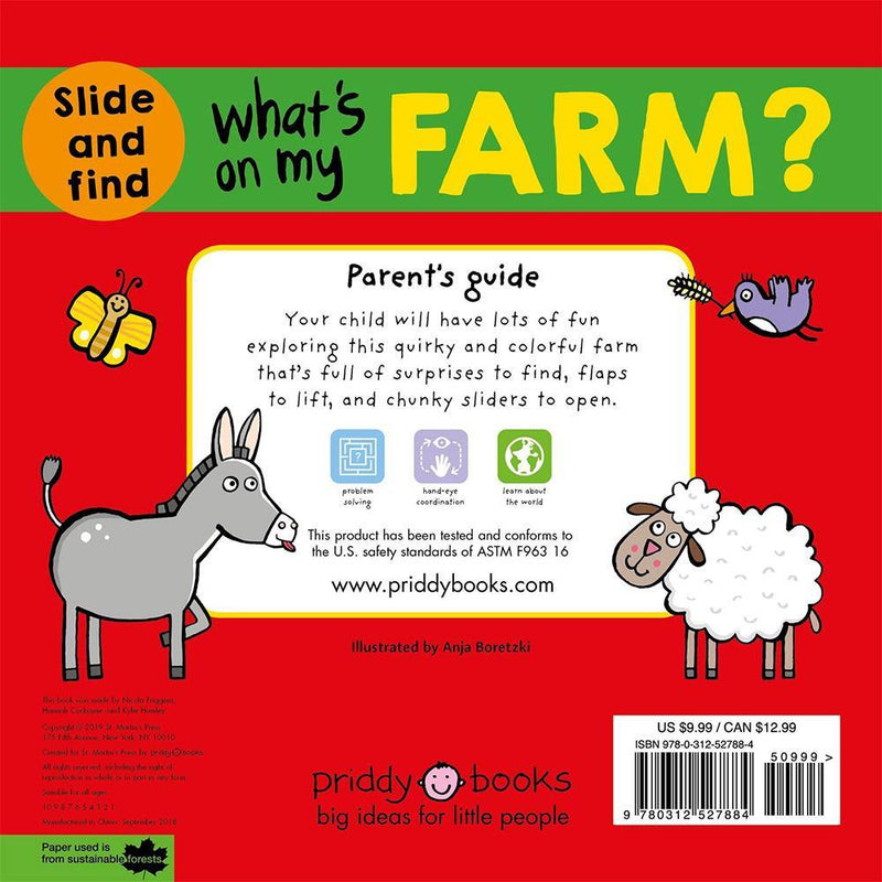 What's on My Farm? A slide-and-find book (Hardback)-BuyBookBook