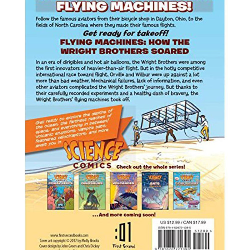 Science Comics: Flying Machines: How the Wright Brothers Soared-BuyBookBook