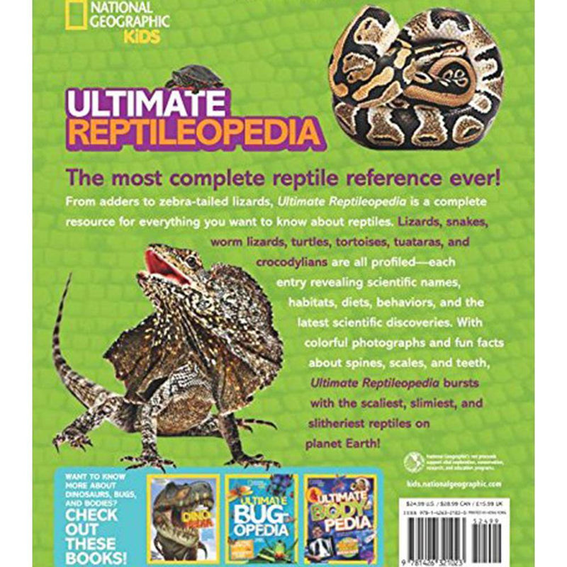 Ultimate Reptileopedia: The Most Complete Reptile Reference Ever (Hardback)-BuyBookBook