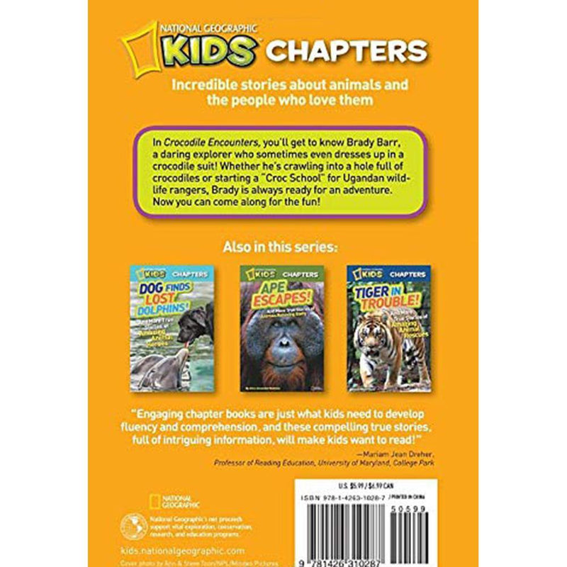 Crocodile Encounters (National Geographic Kids Chapters)-BuyBookBook