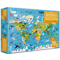 Usborne Animals of the world Book and Jigsaw (200pcs)-BuyBookBook