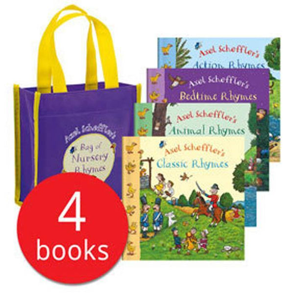 Axel Scheffler's Bag of Nursery Rhymes Collection (4 Books)-BuyBookBook