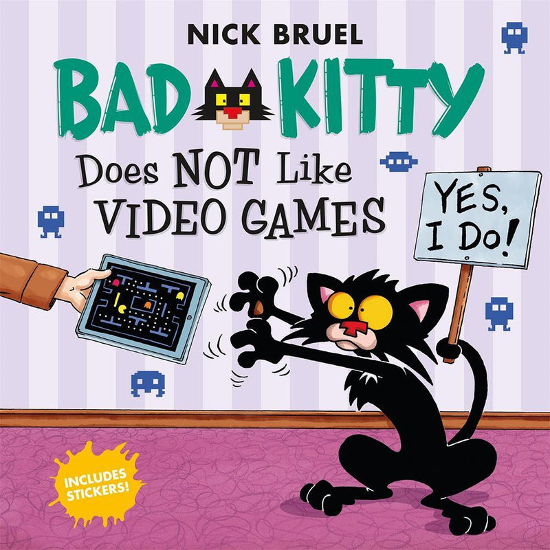 Bad Kitty Does Not Like Video Games (with Stickers)-BuyBookBook