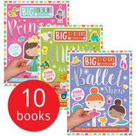 Big Stickers for Little Hands Collection (10 Books)-BuyBookBook