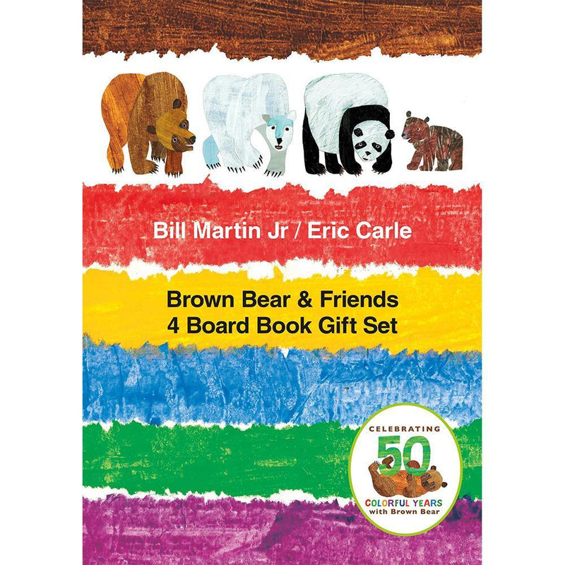 Brown Bear & Friends 4 Board Book Collection (Eric Carle)-BuyBookBook