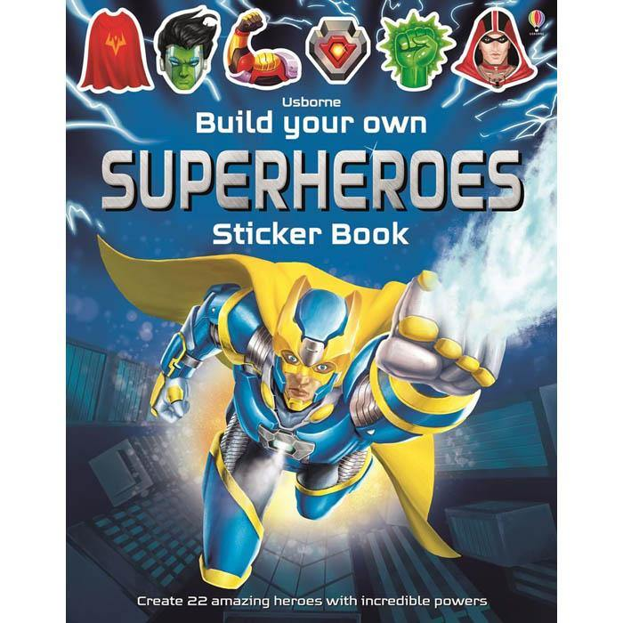 Build your own superheroes sticker book-BuyBookBook