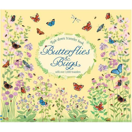 Butterflies and Bugs Rub-down transfer book-BuyBookBook