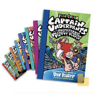 Captain Underpants Full Color #01-08 Bundle (8 book Paperback)-BuyBookBook