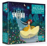 Usborne Cinderella Picture Book and Jigsaw (30 pcs)-BuyBookBook