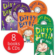 Dirty Bertie Book & CD Collection (8 Books and CDs)-BuyBookBook