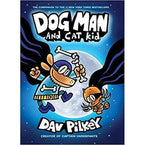 Dog Man #4: Dog Man and Cat Kid (Hardback)-BuyBookBook