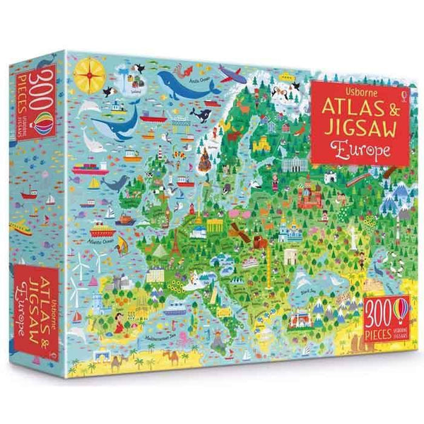 Europe Atlas and Jigsaw-BuyBookBook