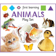 First Learning Animals Play Set (Board Book)-BuyBookBook