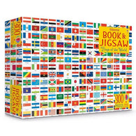 Usborne Flags of the world book and jigsaw (300 pcs)-BuyBookBook